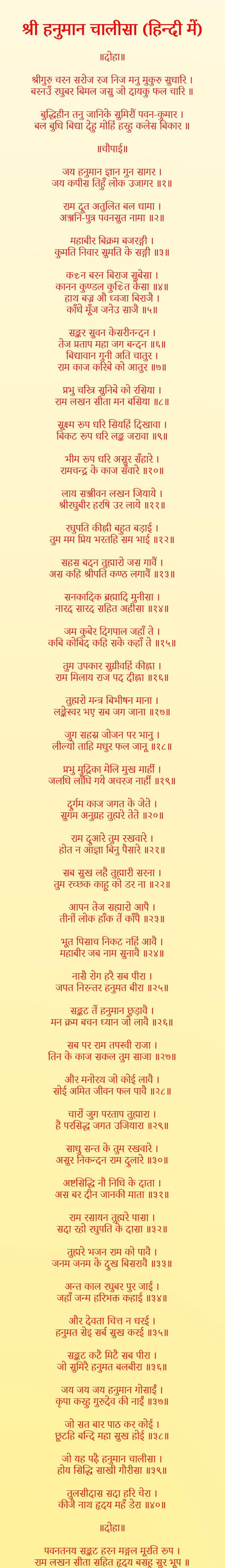 Hanuman Chalisa hindi images